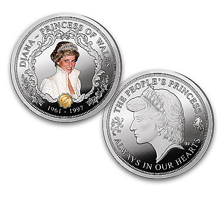 The Princess Diana Legacy Proof Coin Collection And Display