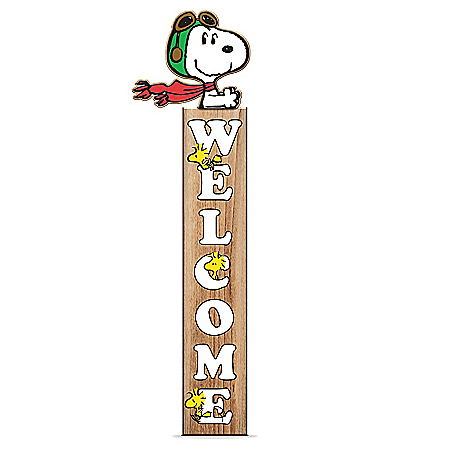 Snoopy And Woodstock Welcome Sign Collection