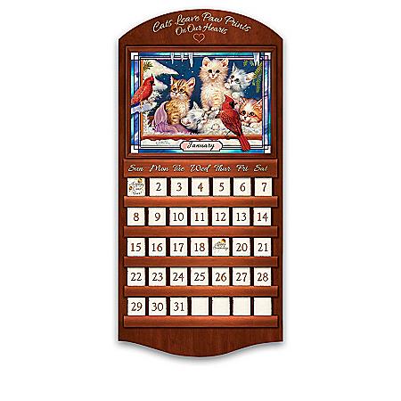 Jrgen Scholz Kitten Art Perpetual Calendar Collection