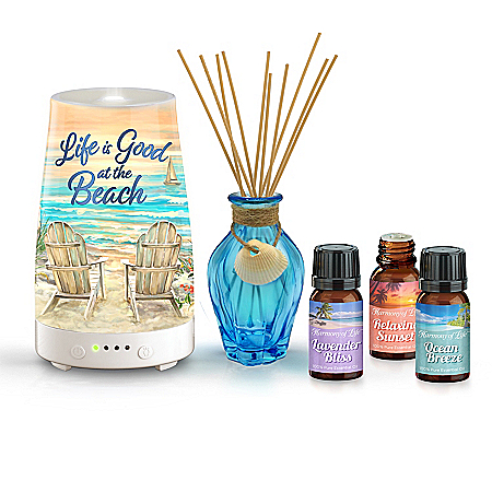 Ocean Paradise Diffuser And Essential Oils Collection
