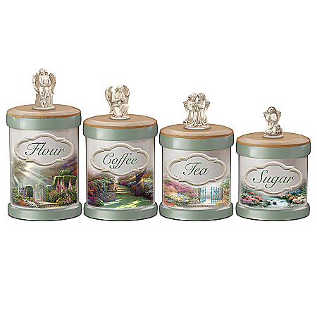 Thomas Kinkade Tranquil Gardens Cannister Collection