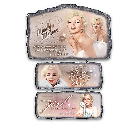 In Her Own Words Marilyn Monroe Wall Decor Collection