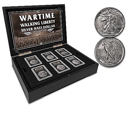 Wartime Walking Liberty Half Dollar Collection And Display