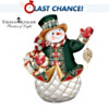 Glistening Holiday Treasures Snowman Figurine