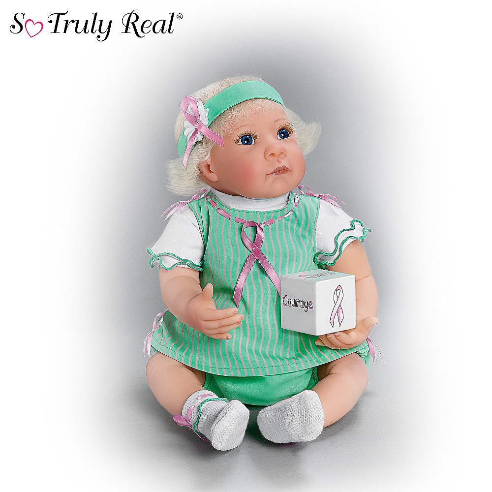The Ashton-Drake Galleries Breast Cancer Support Lifelike Baby Doll: Keep Courage For The Cause at Sears.com