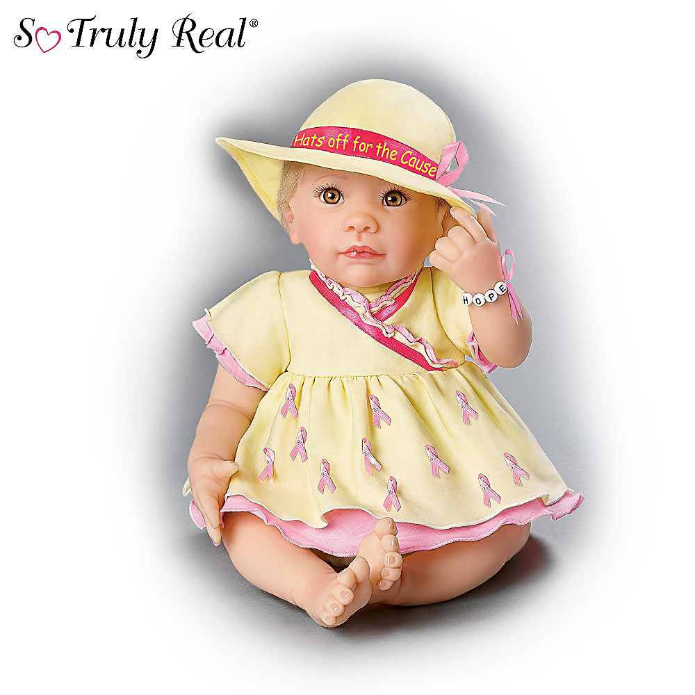 The Ashton-Drake Galleries Breast Cancer Support Lifelike Baby Doll: Hat's Off For The Cause at Sears.com