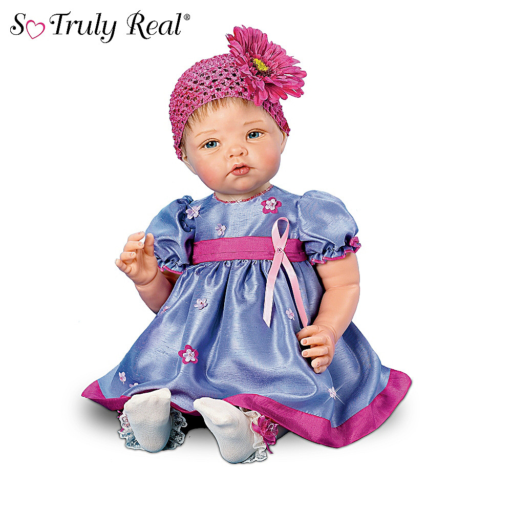 The Ashton-Drake Galleries Breast Cancer Support Lifelike Baby Doll: Together For The Cause at Sears.com