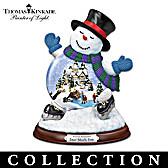 Thomas Kinkade Making Spirits Bright Snowglobe Collection