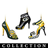 Green Bay Packers Steppin' Out Stiletto Ornament Collection