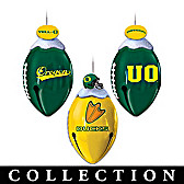 Oregon Ducks FootBells Ornament Collection