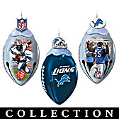 Detroit Lions FootBells Ornament Collection