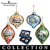 Thomas Kinkade Light Up The Season Ornament Collection