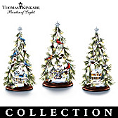 Thomas Kinkade Wintry Wonders Tabletop Tree Collection
