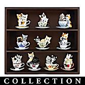 Purr-fectly Tealightful Curio Figurine Collection