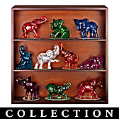 Rarest Gem Elephants Of The World Figurine Collection