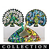 The Beauty Of Tiffany Peacock Figurine Collection