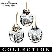 Thomas Kinkade Sleigh Bells Ornament Collection