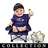 Baltimore Ravens Tailgatin' Tots Baby Doll Collection