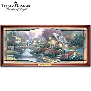The Bradford Exchange Thomas Kinkade Garden Of Light Collectible Stained Glass Wall Decor at Sears.com