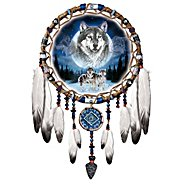 The Bradford Exchange Dreams Of The Wild Wolf Art Native American-Style Dreamcatcher Wall Decor at Sears.com