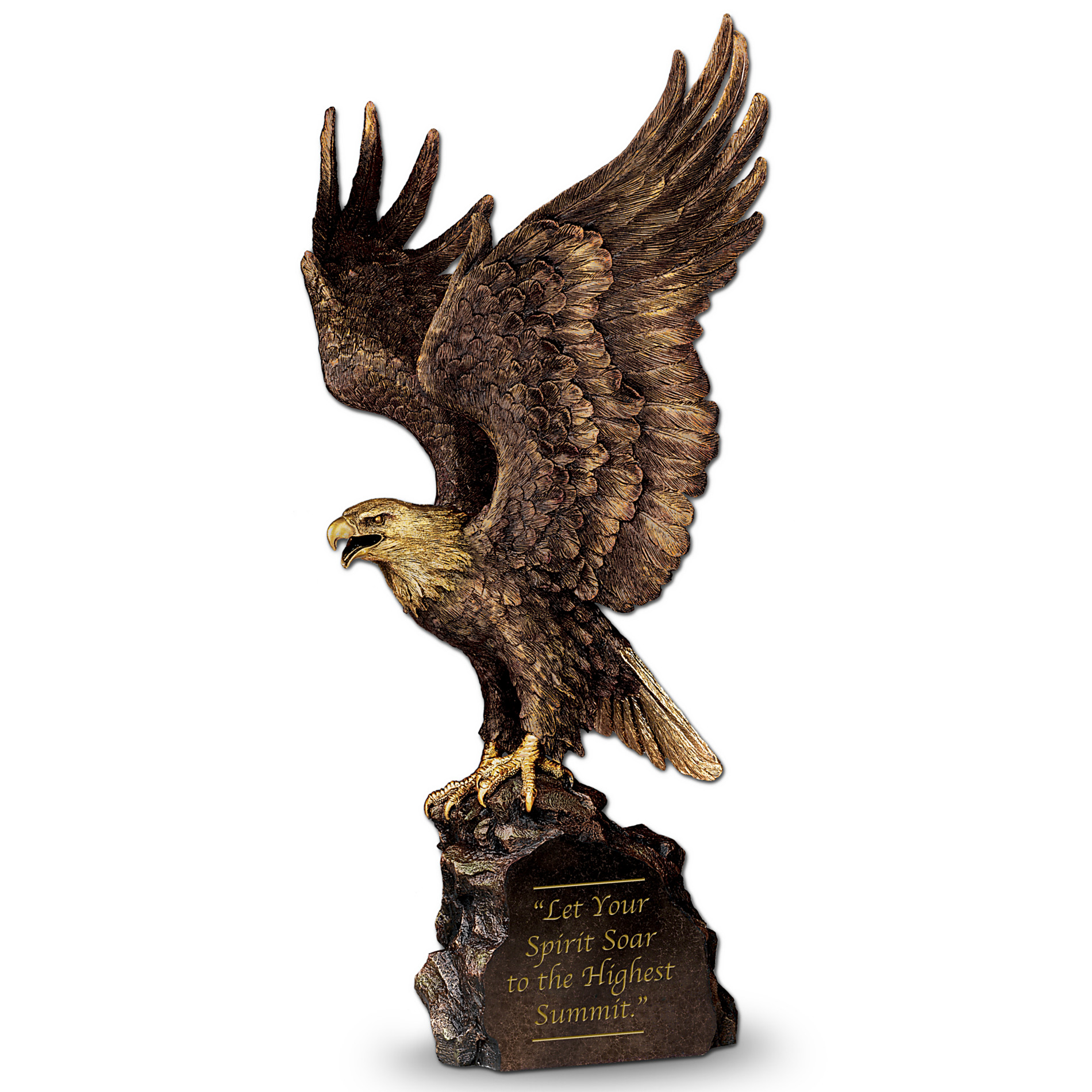 The Bradford Exchange Genuine Cold-Cast Bronze Eagle Sculpture: Summit Of Majesty at Sears.com