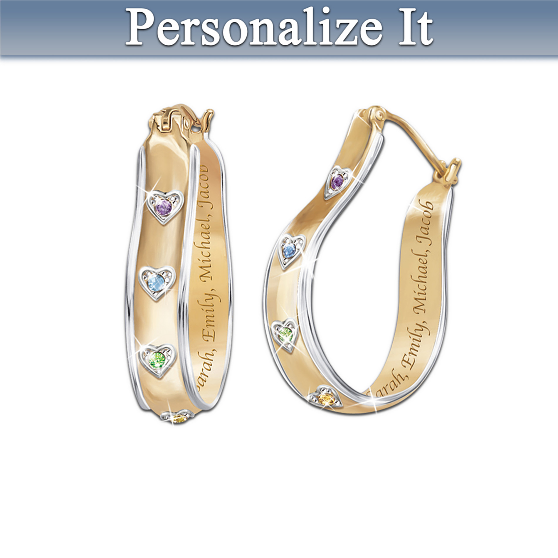 The Bradford Exchange A Mother's Joy Personalized Birthstone Earrings: Keepsake Jewelry Gift For Mom at Sears.com