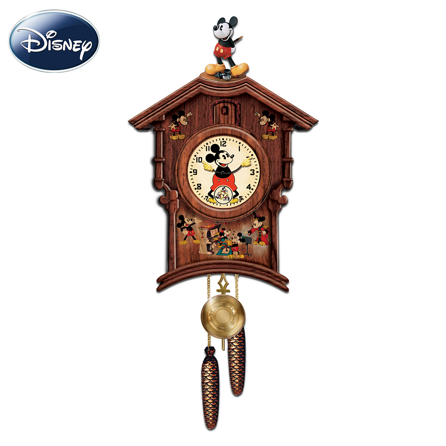 The Bradford Exchange Disney Memories Of Mickey Mouse Wooden Wall Cuckoo Clock: Disney Mickey Mouse Wall Decor at Sears.com