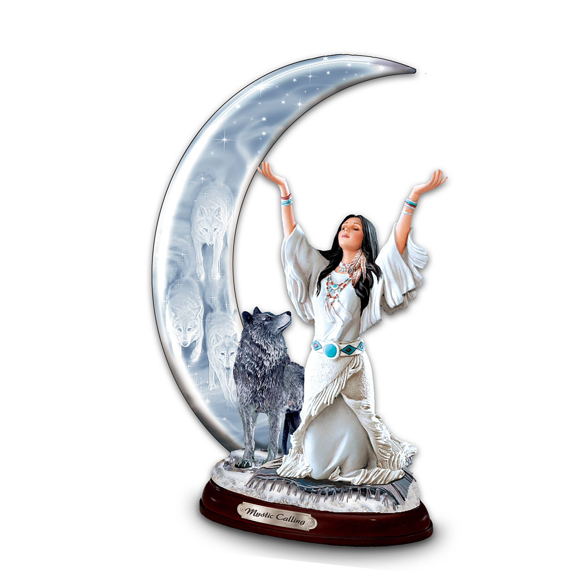 The Bradford Exchange Mystic Calling Collectible Wolf Themed Figurine at Sears.com