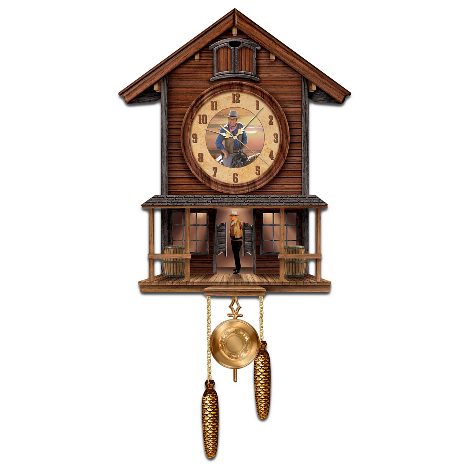 The Bradford Exchange John Wayne: American Icon Collectible Cuckoo Clock at Sears.com