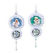 The Bradford Exchange Snow Angel Holidays Ornaments Set One: Set Of Two at Sears.com