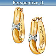 The Bradford Exchange Everlasting Kiss Personalized Earrings: Couples Jewelry Gift For Her at Sears.com