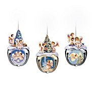 The Bradford Exchange Christmas Blessings Jingle Bell Angel Ornaments Set One: Set Of Three at Sears.com