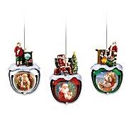 The Bradford Exchange Dona Gelsinger's Santa Sleigh Bells Ornaments Set One: Set Of Three at Sears.com