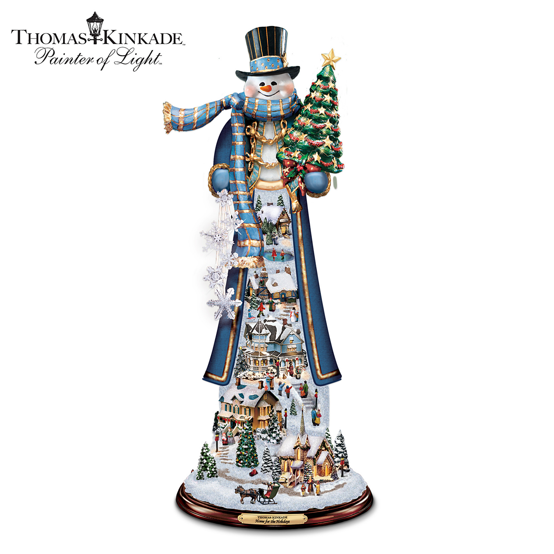 The Bradford Exchange Thomas Kinkade Home For The Holidays Tall Snowman Figurine at Sears.com