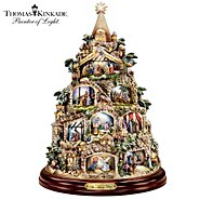 The Bradford Exchange The Nativity Tree Tabletop Centerpiece Presented And Narrated By Thomas Kinkade at Sears.com