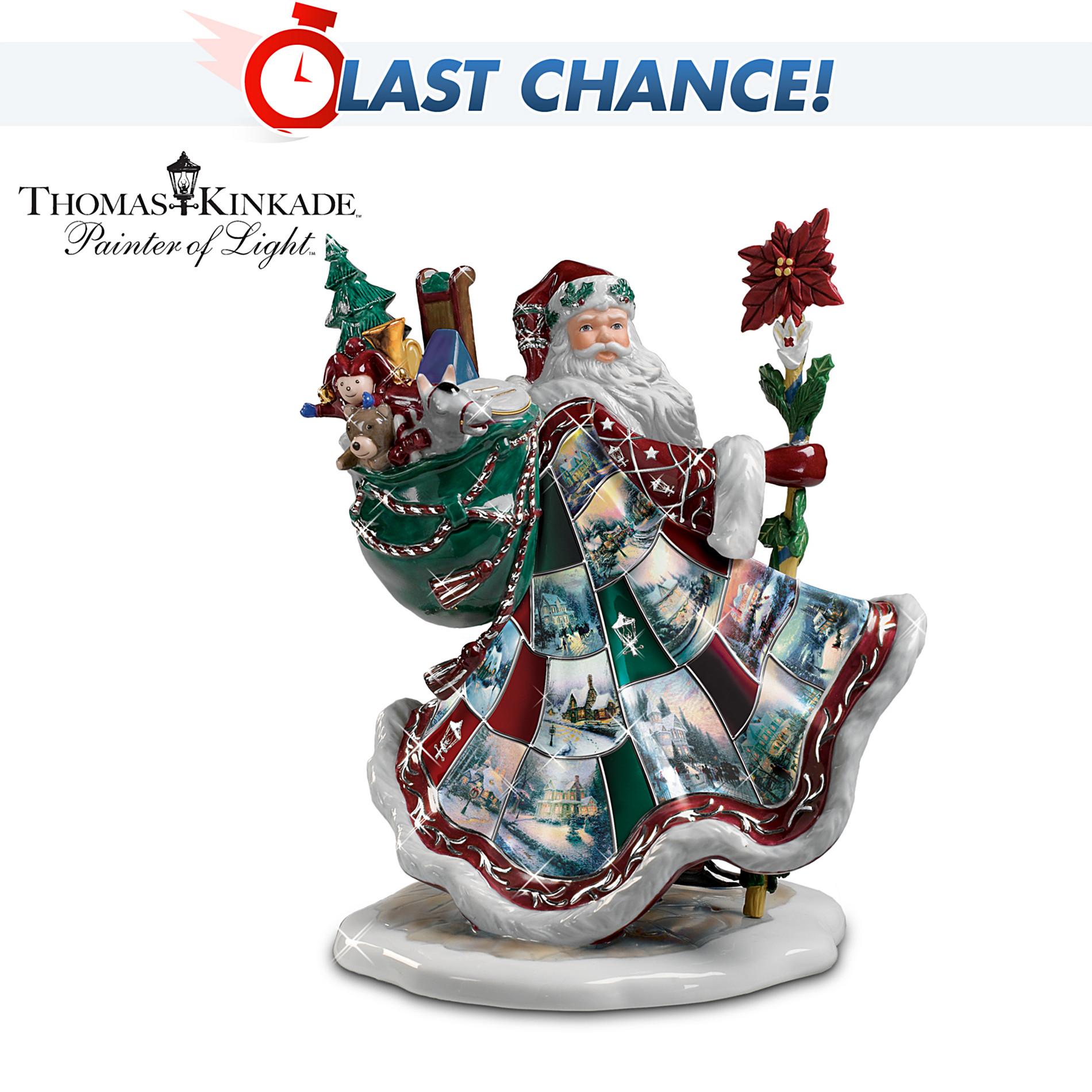 The bradford exchange thomas kinkade musical santa claus