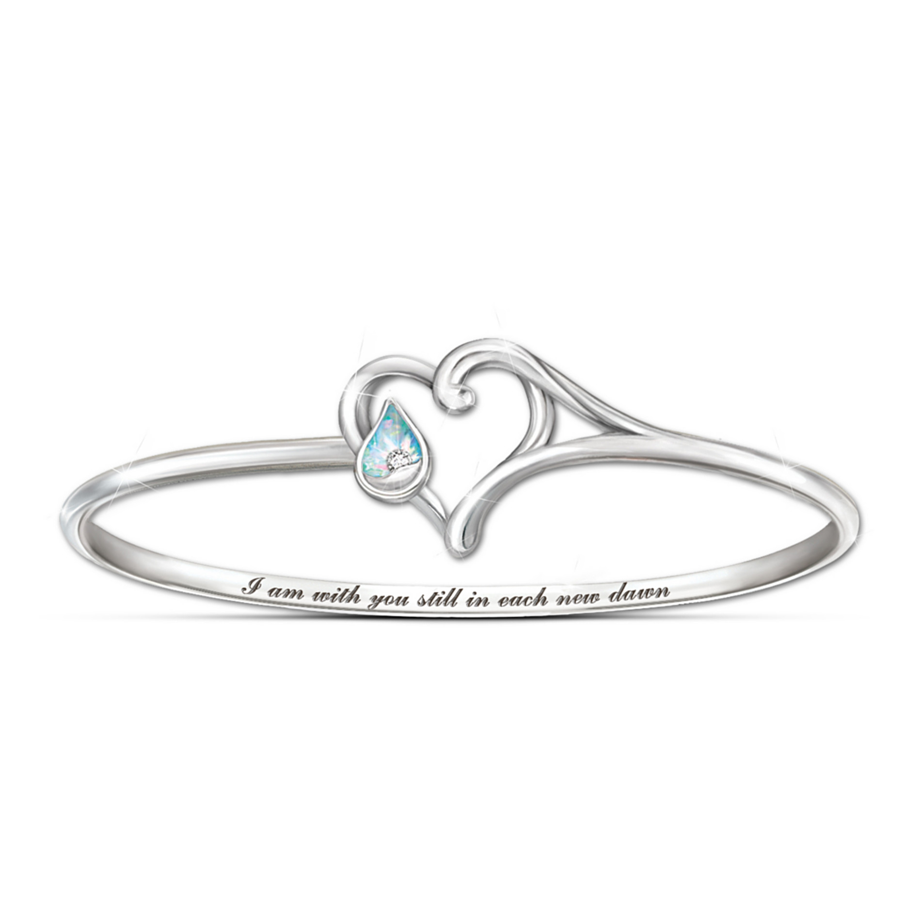 The Bradford Exchange Diamond And Created Opal Bracelet: I Am With You at Sears.com