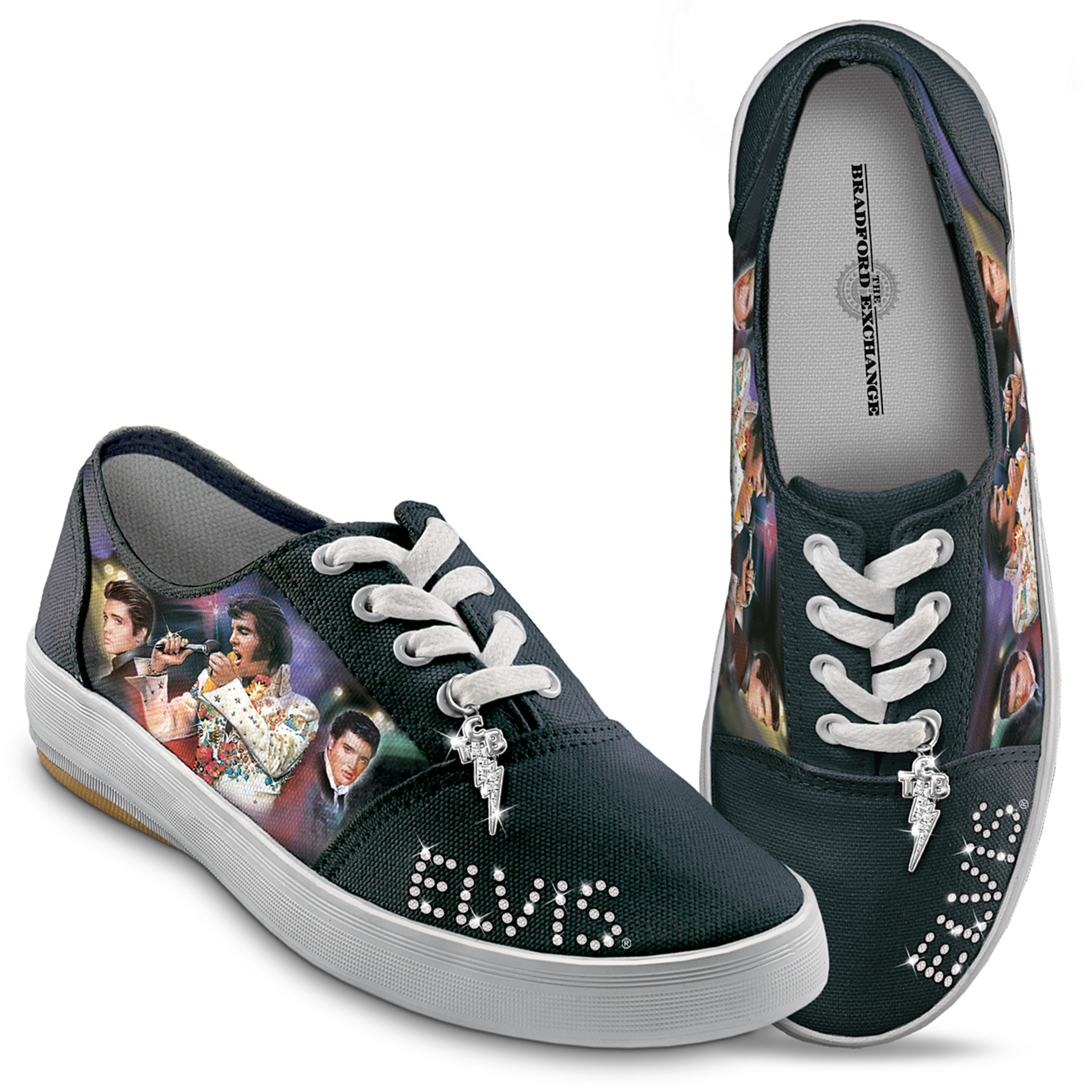 The Bradford Exchange Elvis Presley Signature Canvas Sneakers at Sears.com