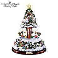 The Bradford Exchange Thomas Kinkade Winter Festival Musical Rotating Swing Tabletop Tree at Sears.com