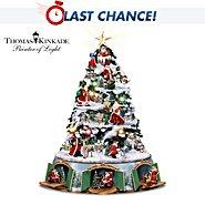 The Bradford Exchange Thomas Kinkade Santa's Christmas Journey Tabletop Christmas Tree at Sears.com