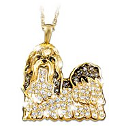 The Bradford Exchange Best In Show Dog Lovers Shih Tzu Crystal Pendant Necklace at Sears.com
