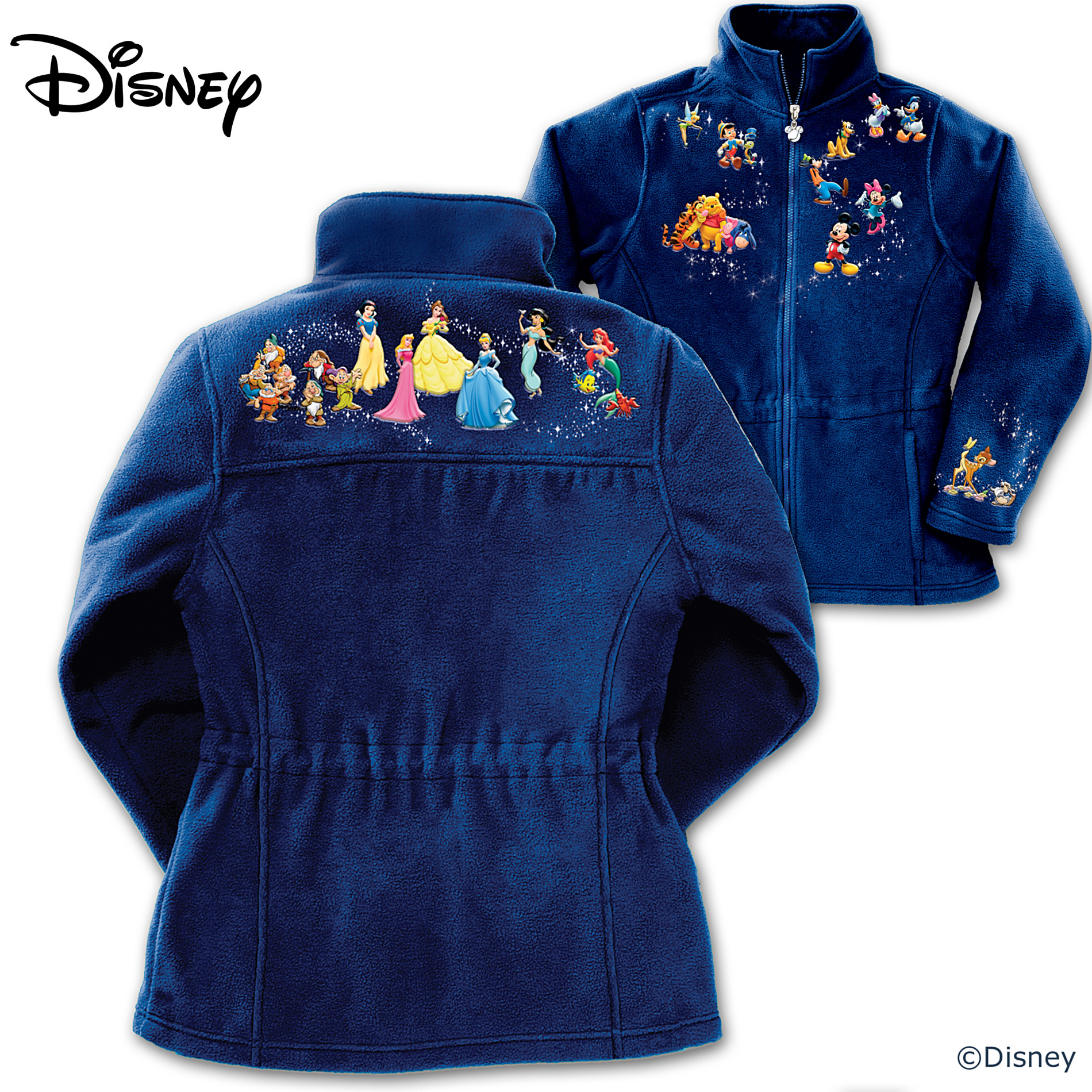The Bradford Exchange Disney Characters Fleece Jacket: Magic Of Disney at Sears.com