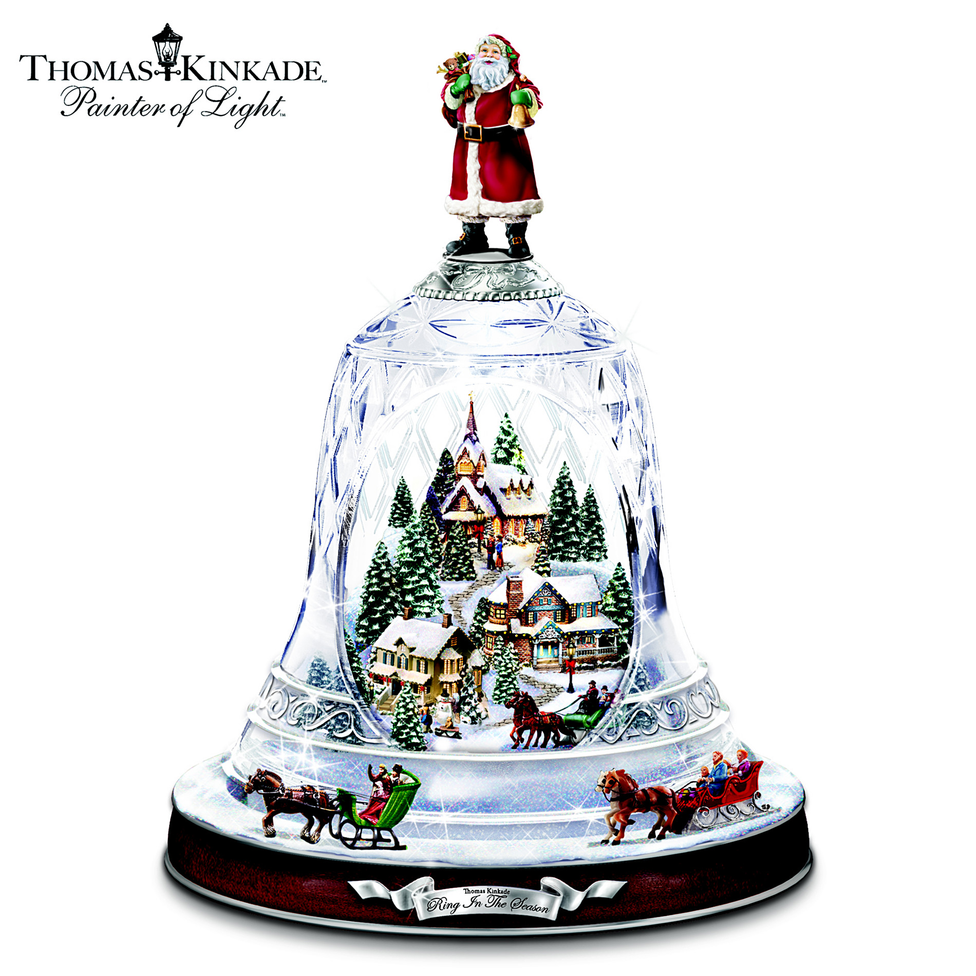 The Bradford Exchange Thomas Kinkade's Ring In The Season Crystal Bell Table Centerpiece at Sears.com