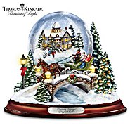 The Bradford Exchange Thomas Kinkade Jingle Bells Illuminated Musical Christmas Snowglobe at Sears.com