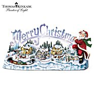 The Bradford Exchange Thomas Kinkade Musical Illuminated Miniature Village Figurine: Santa's Inspiration at Sears.com