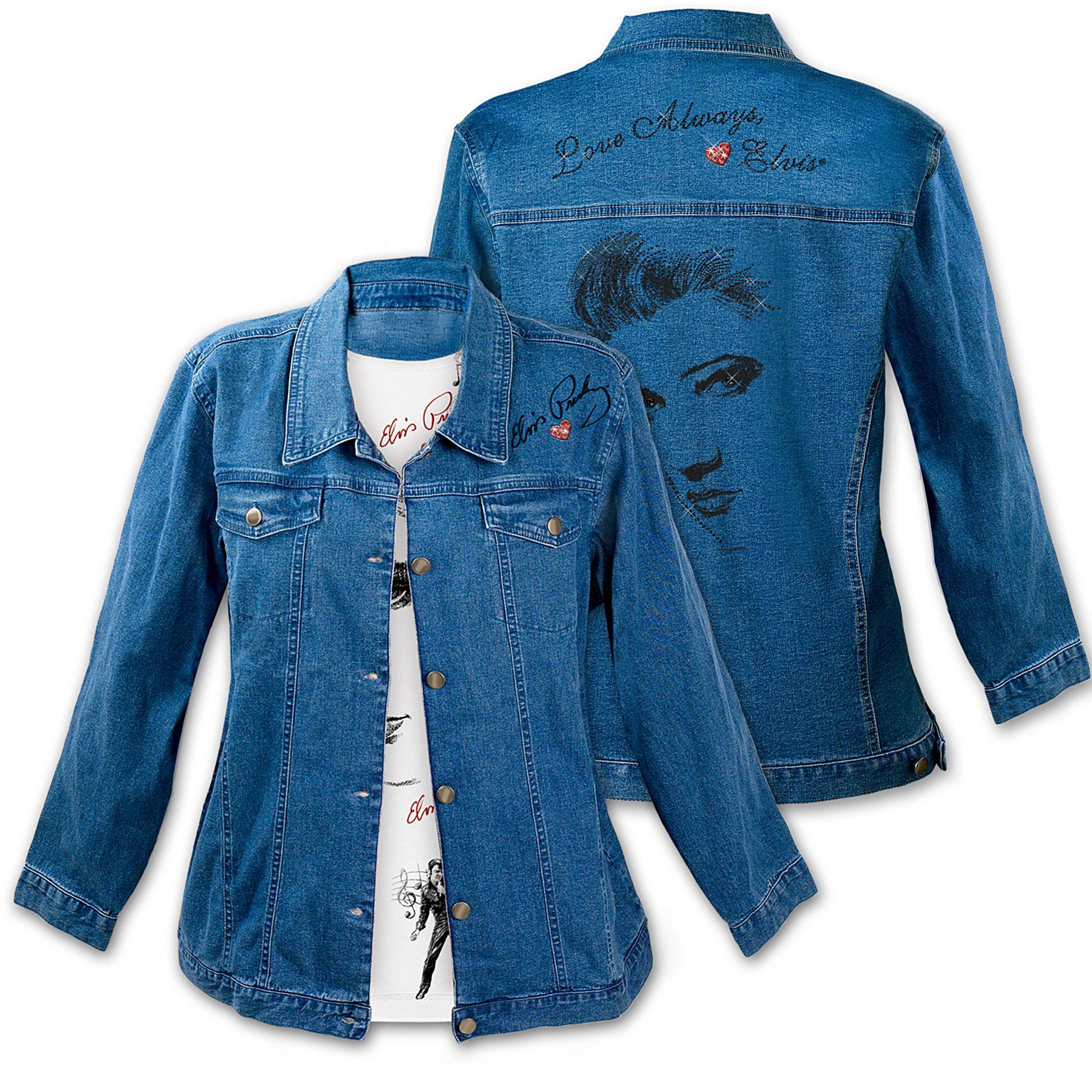 The Bradford Exchange Love Always, Elvis Women's Denim Jacket at Sears.com