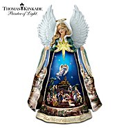 The Bradford Exchange Thomas Kinkade Talking Nativity Angel Sculpture With Music And Animation at Sears.com