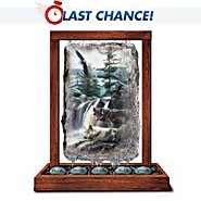 The Bradford Exchange Peaceful Waters Wolf Art By Kevin Daniel Tabletop Fountain at Sears.com