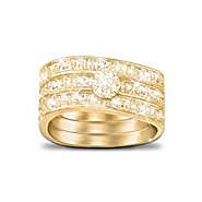 The Bradford Exchange Three Band Ring With Champagne-Colored Diamonds: Champagne Celebration at Sears.com
