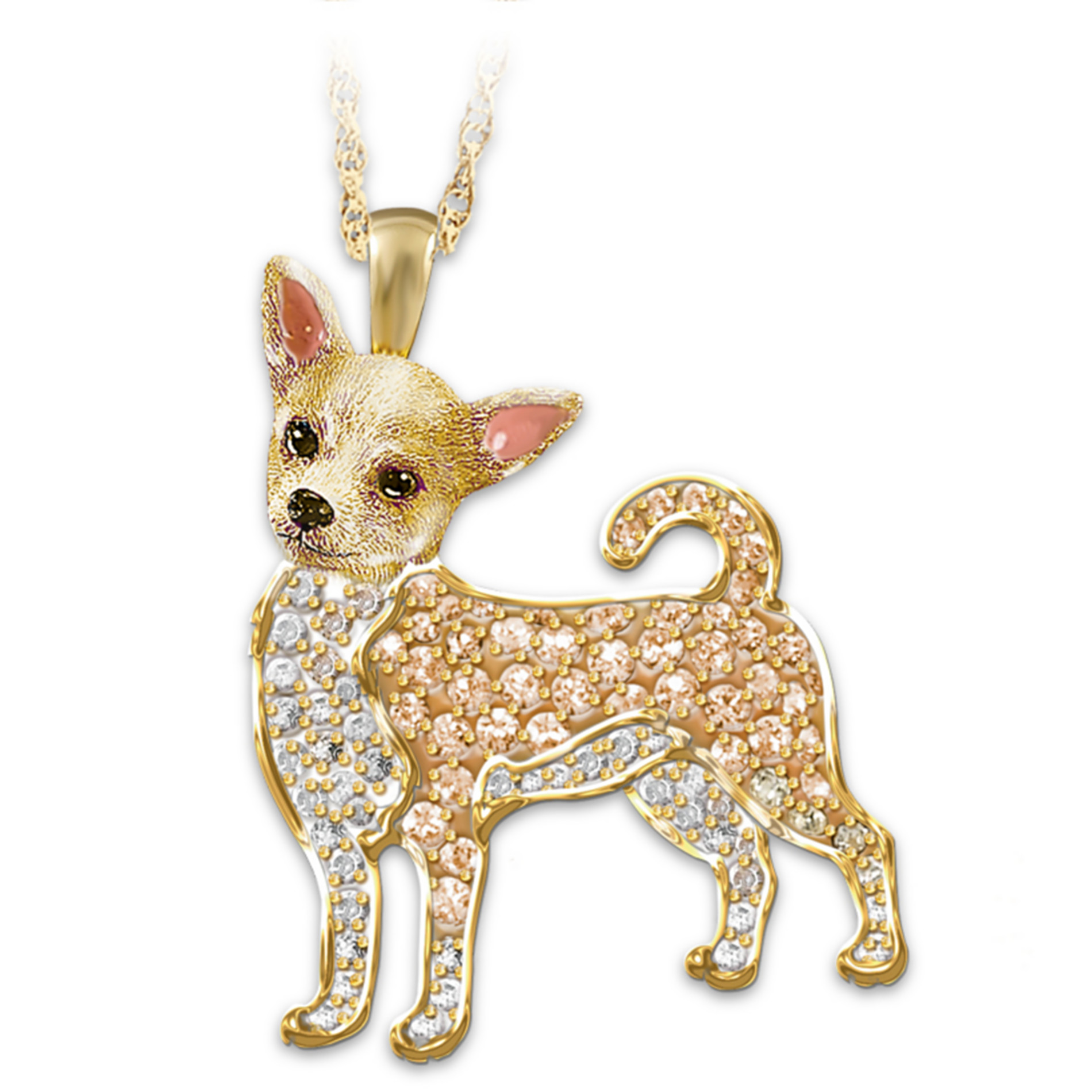 The Bradford Exchange Best In Show Dog Lovers Chihuahua Crystal Pendant Necklace at Sears.com